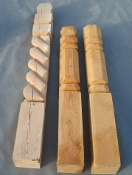 "Fence Posts Beveled 6""x6""x60"" with top"